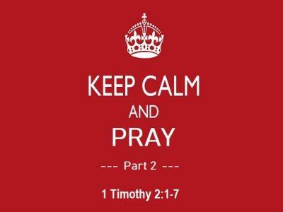 1 Timothy 2:1-7