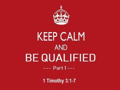 1 Timothy 3:1-7