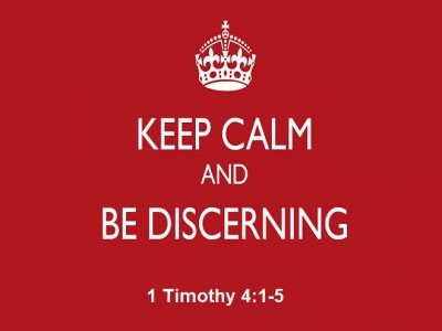 Keep Calm and Be Discerning