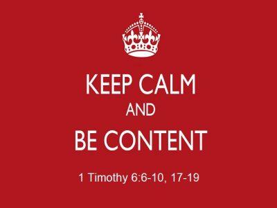 1 Timothy 6:6-10, 17-19