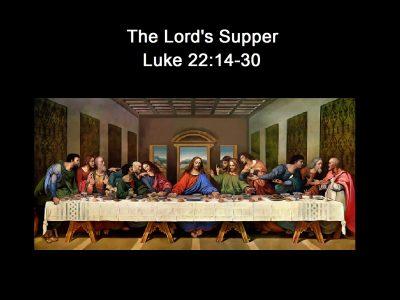 Luke 22:14-30