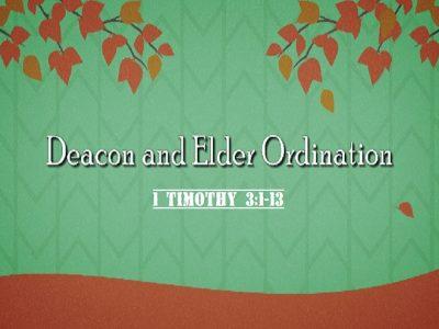 1 Timothy 3:1-13