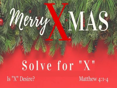 """Is """"X"""" Desire?"""
