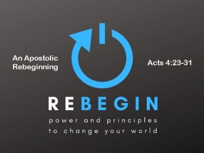 An Apostolic Rebeginning